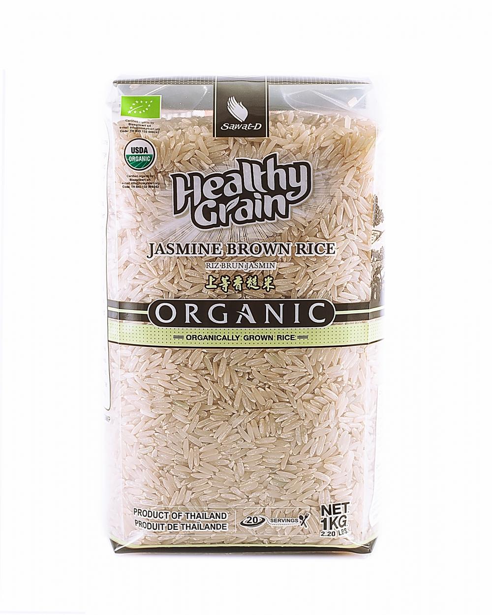 """Органический тайский коричневый рис """"Жасмин"""", 1 кг"""