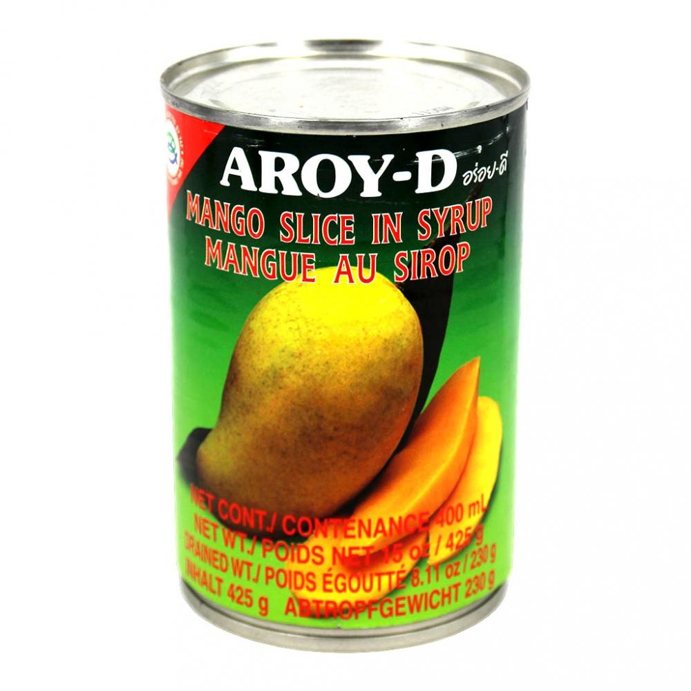 Манго (дольки) в сиропе AROY-D, 425гр.