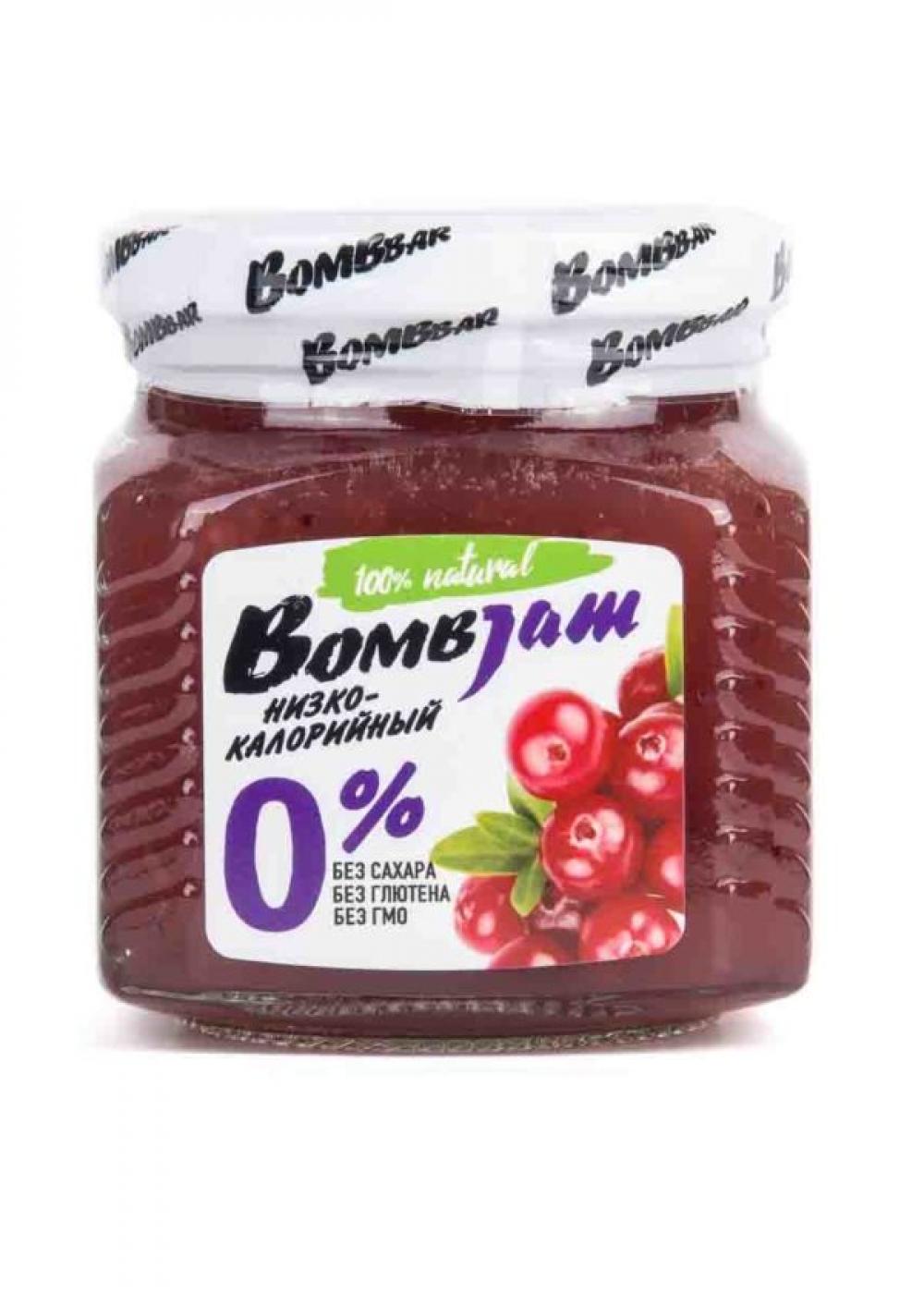 "Джем низкокалорийный BombJam ""Брусника"", Bombbar"