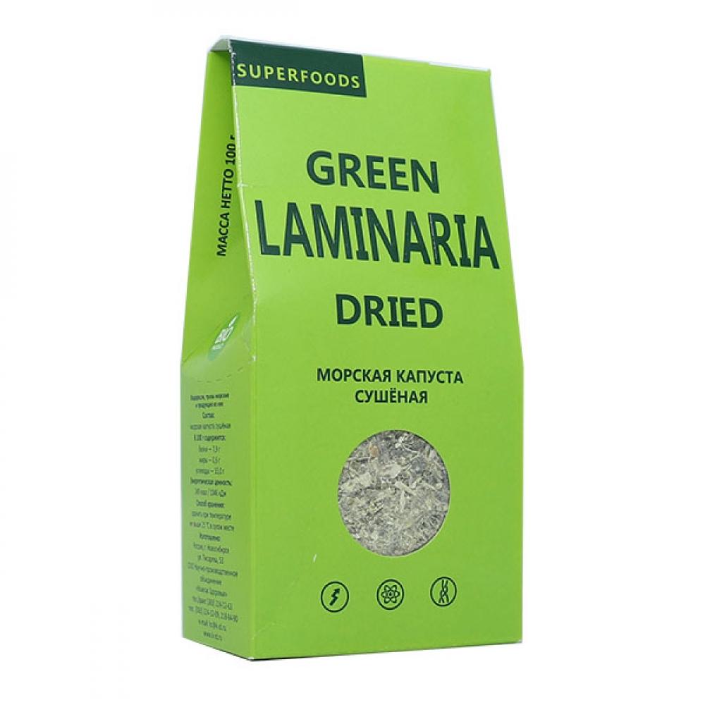 Морская Капуста сушеная (Green Laminaria), 100г