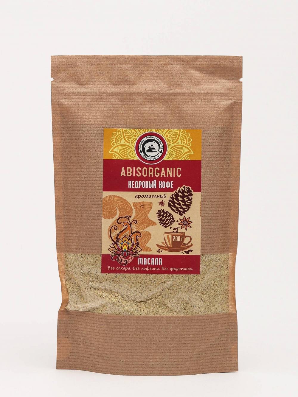 Кедровый кофе масала без сахара и кофеина, Abisorganic