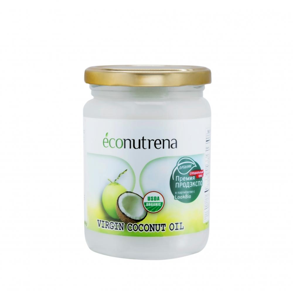 Масло кокосовое органическое нерафинированное Econutrena, 500мл.