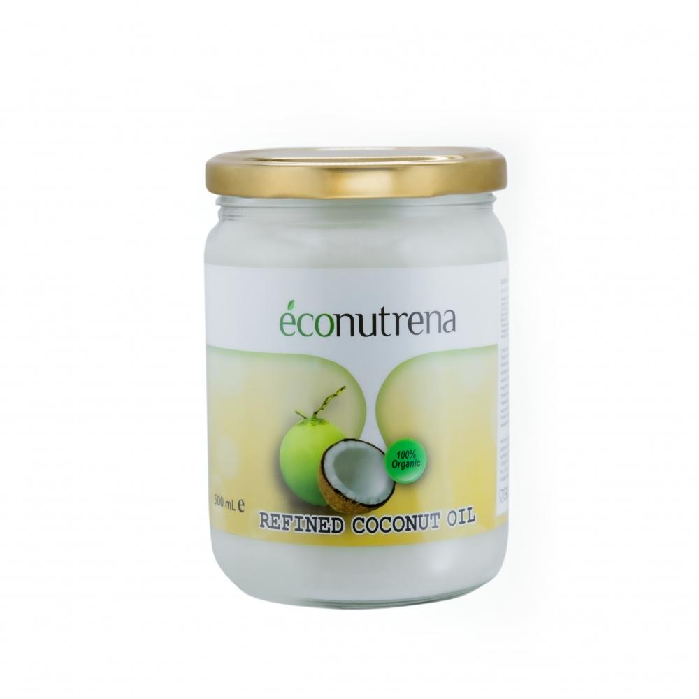 Масло кокосовое органическое рафинированное Econutrena, 500мл.