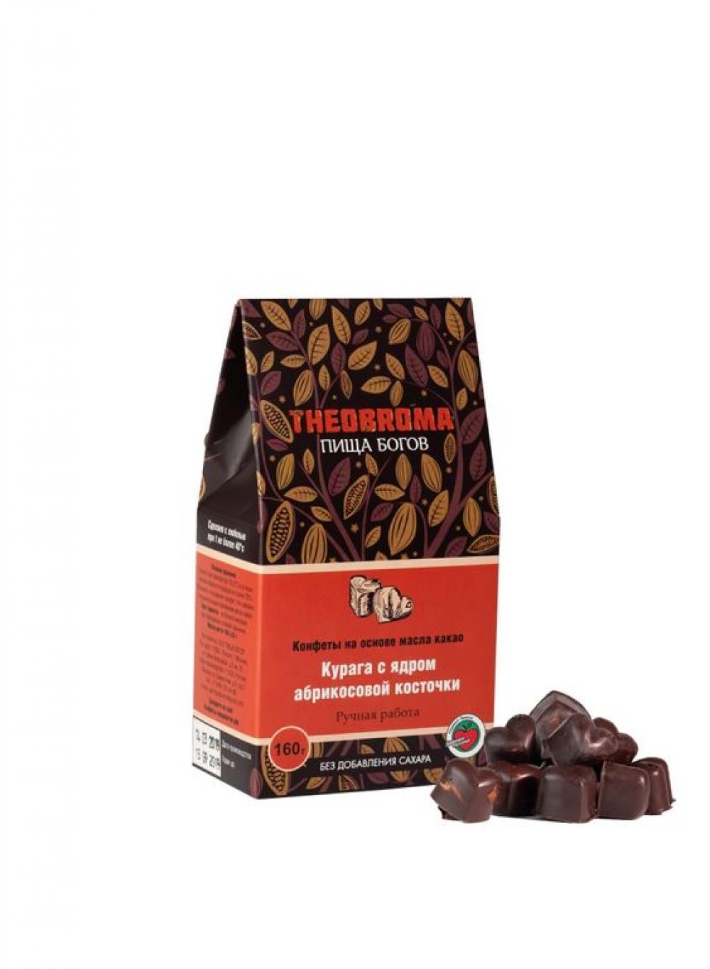 """Конфеты без сахара """"Курага в шоколаде"""" THEOBROMA, 160гр."""