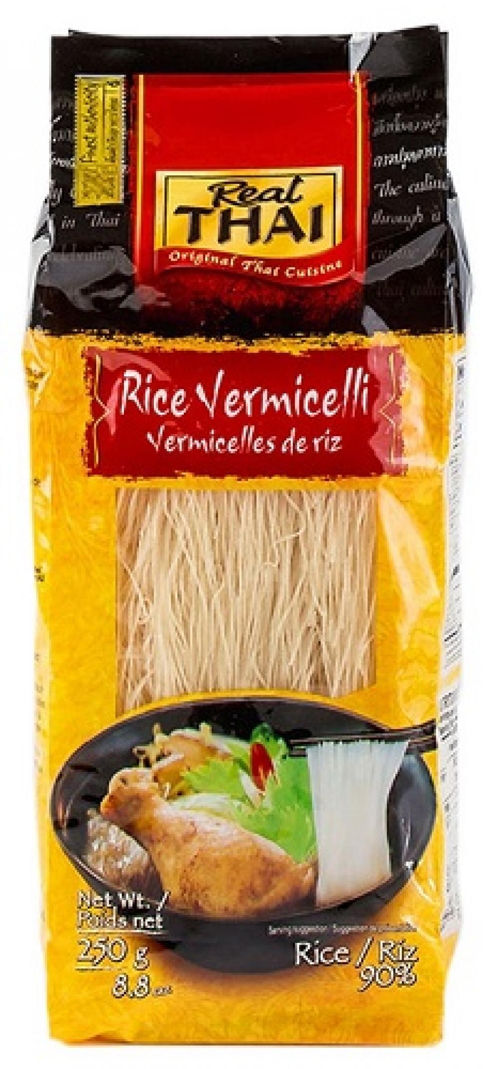 Лапша рисовая 1мм Real Thai, 250г.