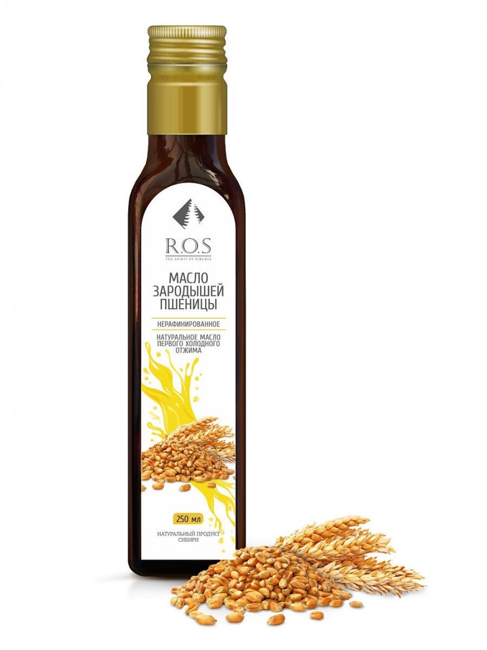 Зародышей пшеницы масло нерафинированное холодного отжима, 250мл, R.O.S