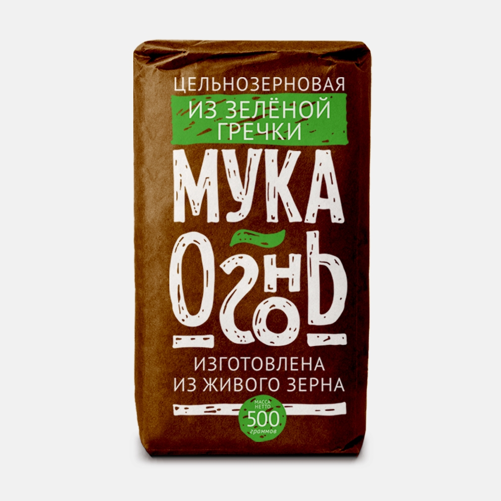 Мука из зеленой гречки, 500 г, Мука-огонь, Образ жизни