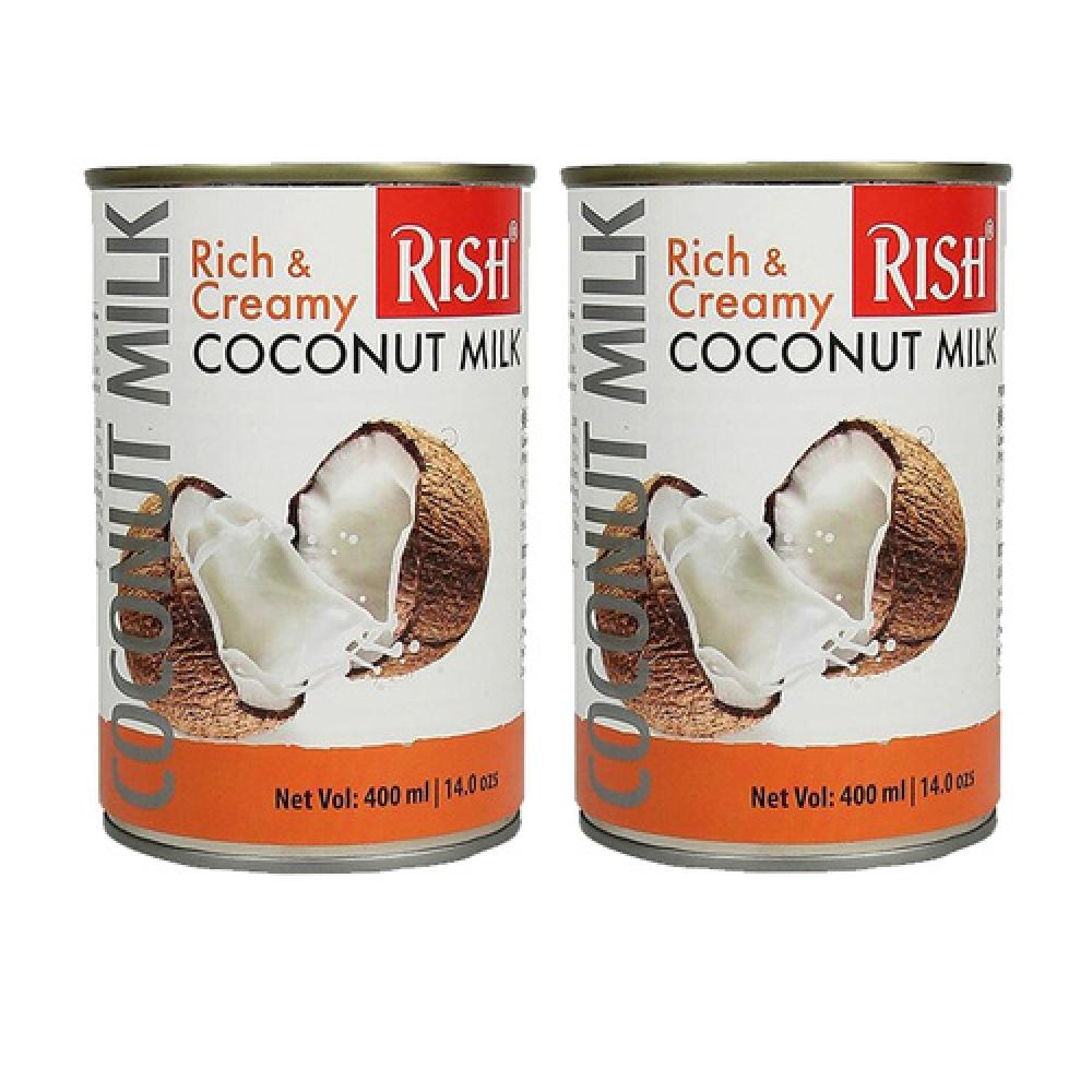 Молоко кокосовое органическое Rish, 400мл.