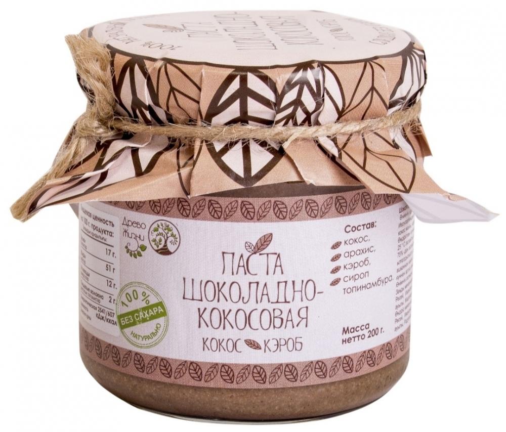 """Паста """"Шоколадно-кокосовая"""", 200 г, Древо Жизни"""