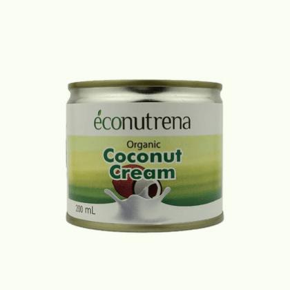 Кокосовые сливки, органические Econutrena 22%