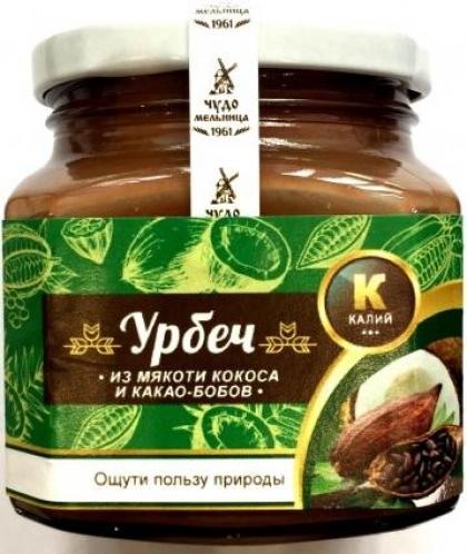 Урбеч из мякоти кокоса и какао-бобов