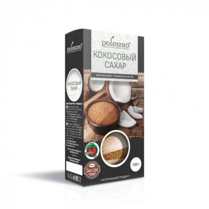 Кокосовый сахар, 100г, Polezzno