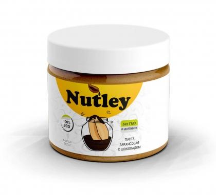 Паста арахисовая с шоколадом Nutley, 300г.