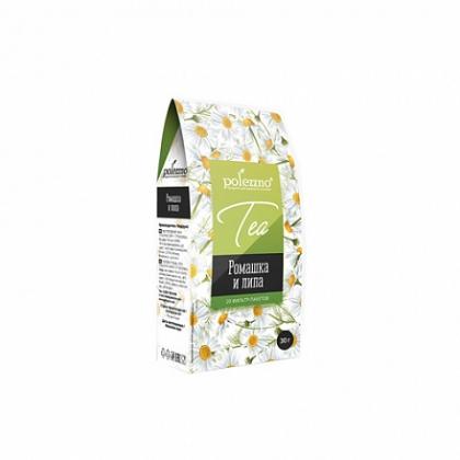"""Напиток чай """"Ромашка и липа"""", 30г, 20 фильтр-пакетов, Polezzno"""