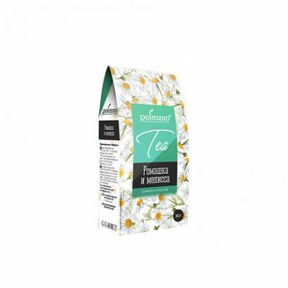 """Напиток чай """"Ромашка и мелисса"""", 30г, 20 фильтр-пакетов, Polezzno"""