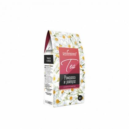 """Напиток чай """"Ромашка и ройбуш"""", 30г, 20 фильтр‑пакетов, Polezzno"""