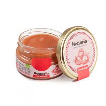 Взбитый мед с клубникой, 130 гр.