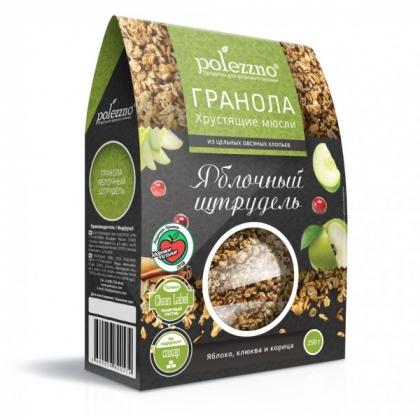 Гранола ЯБЛОЧНЫЙ ШТРУДЕЛЬ, 250гр.