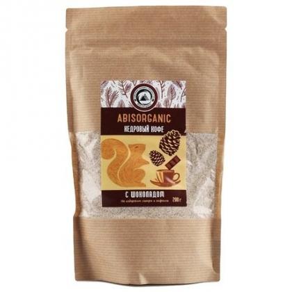Кедровый кофе с шоколадом без сахара и кофеина, Abisorganic
