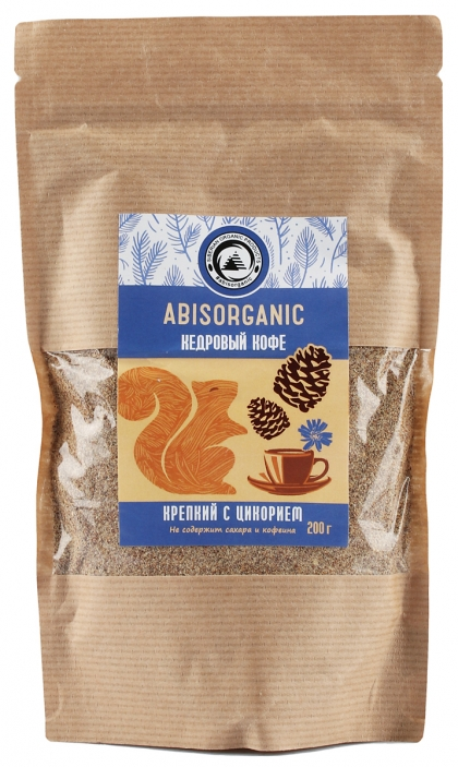 Кедровый кофе крепкий с цикорием, Abisorganic