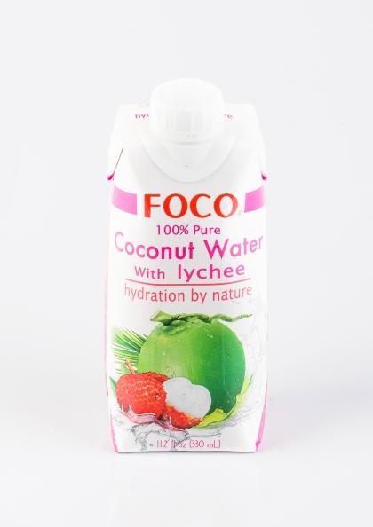 Кокосовая вода с личи, 330мл. Foco