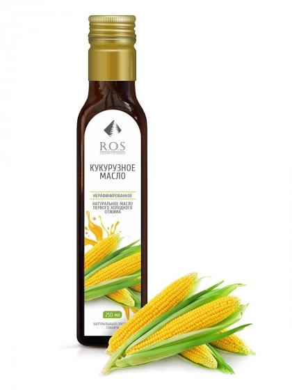 Кукурузное масло нерафинированное холодного отжима, 250мл, R.O.S