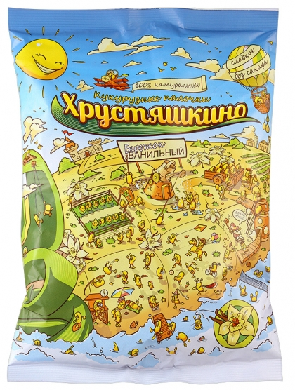 Кукурузные палочки ванильные без сахара Хрустяшкино, 90 г