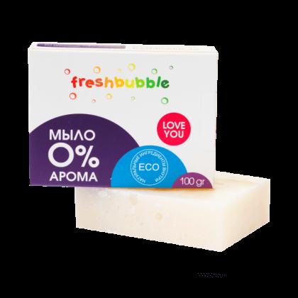 Экологичное универсальное мыло без аромата, 100гр. FreshBubble