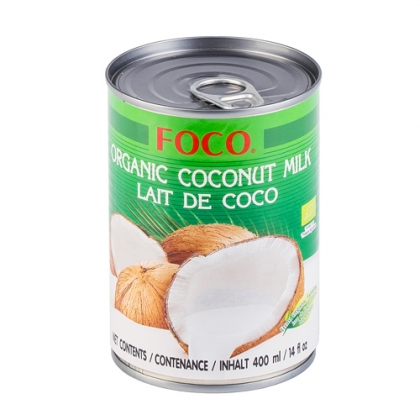 Органическое кокосовое молоко Foco, 400мл.