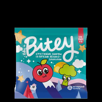 Хрустящие Паффы-чипсы Bitey со вкусом «Яблоко-брокколи», 20 г