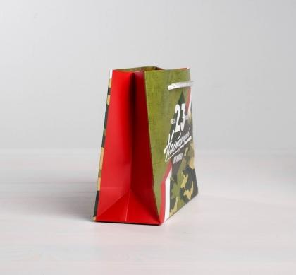 Пакет ламинированный горизонтальный «Честь и Отвага», MS 23 × 18 × 8 см