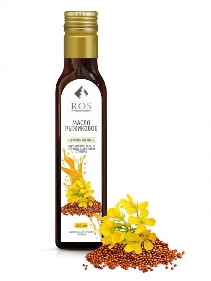 Рыжика семян масло (рыжиковое) нерафинированное холодного отжима, 250мл, R.O.S