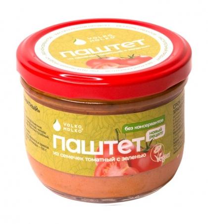 """Закуска """"Паштет из семечек томатный"""" с зеленью, 200 г, VolkoMolko"""