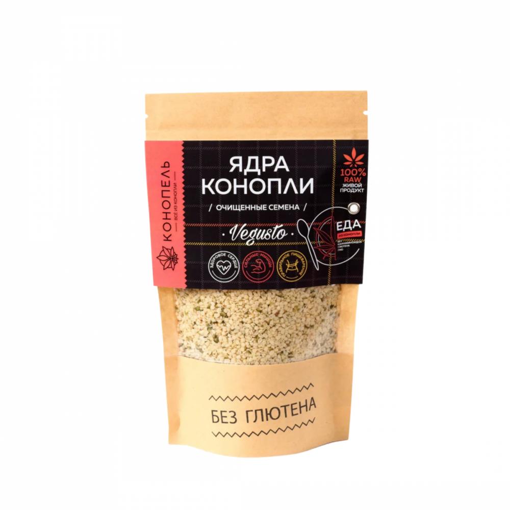 Ядра конопли, очищенные семена, 150 гр, Конопель
